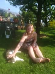 This is me and Bodo. He don`t like to be carried around but he loves to be pet.