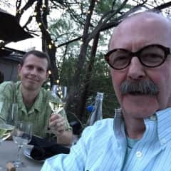 Peter (l) and Neal (r) at an anniversary dinner