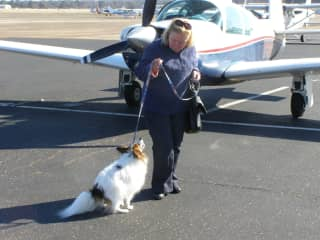 Becky ready for a rescue flight