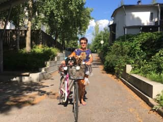 Cycling with Lee and Seppo in Finlad