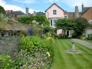 Our house from the garden