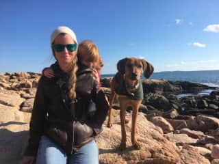 Jenni Opal and Ginger on our island 2019