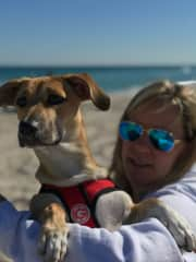 Emme and I on the beach