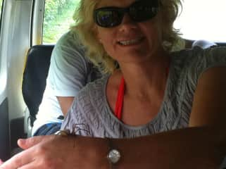 Jacquie taking on her spider fears in Vanuatu