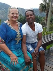Garth and me in the Blue Mountains, Jamaica