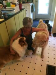 Me and my doggie friends