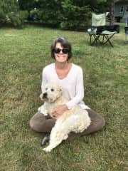 Linda with Rosie.