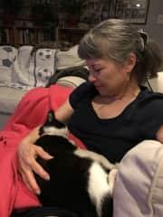 Love when Wallis sleeps in my arms!