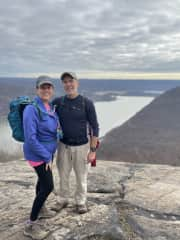 Here I am hiking in NYS with my husband Steve.
