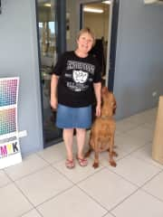 This is Snoop Dog and me in my Snoop Dog T-Shirt