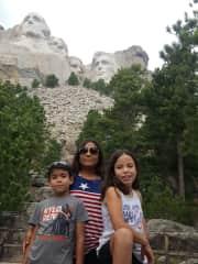 Visting Mt. Rushmore.
