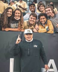 This picture is me and bunch of my friends at a Georgia Tech Football Game!