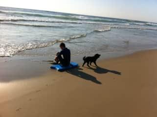Keith and Sufari on the beach
