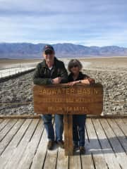Bill and Cheri in Death Valley