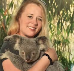Diann with a local in Australia