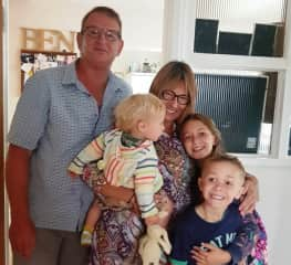 Uncle Greg and Aunty Toni with one of the families we have house sat for