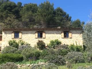 Our farmhouse above Seillans