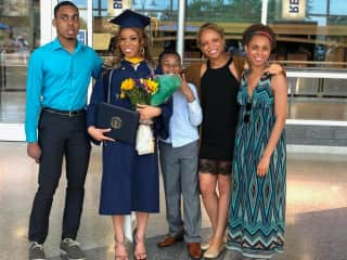 My siblings and I the day one of my little sisters graduated nursing school