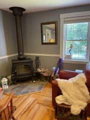 Living room wood stove