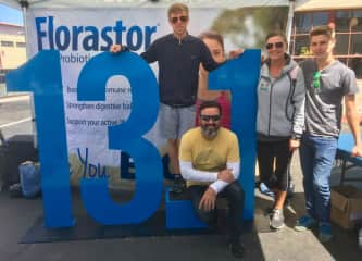 Edward and I collecting bibs for The 40th San Francisco Half Marathon