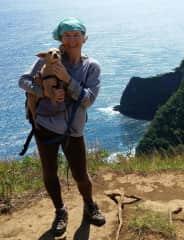 North Hawaii Island: Hiking with Luna above Honokane Nui