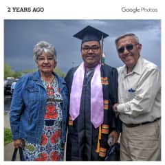 Me and my parents at my graduation from college