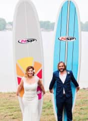 We love surfing and stand up paddle boarding!
