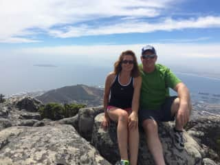 Todd and Jean at Table Mountain in South Africa March 2017