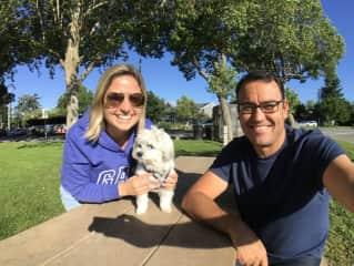With little Charlie in Petaluma, California (Jun/2017)