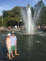 Cooling off in New York