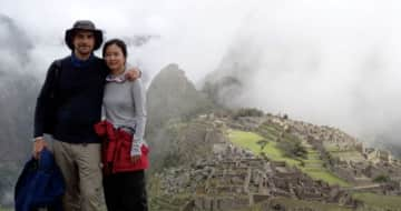 Hyeshin & Mark at Machu Picchu, Peru