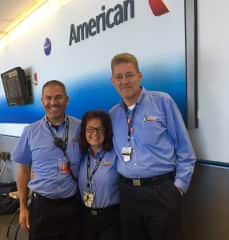Retirement from American Airlines allows Stephanie to fly for free for life.