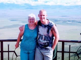 Myself and son at Ngorongoro crater, Tanzania Nov 2019