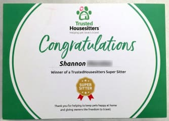 We're Super Sitters, thank you for the award THS!