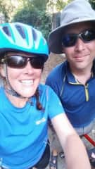 Breege and Andy cycling in France