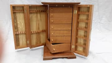 Jewellery cabinet i made for my daughter