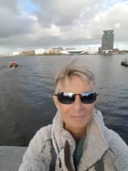 Karen L Pope.  This picture was taken last year on the ferry in Amsterdam