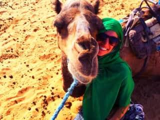 Me on a desert safari in SE Morocco.