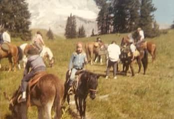 Tonka and I (age 6) take on the mountains!