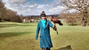 In Spring 2018 my daughter Caroline and I stayed in London. We had an excursion to Leeds Castle for a falconry experience. Needless to say, it was amazing.