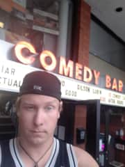 Doing stand-up comedy