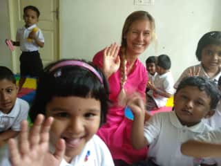 teaching children German/English India 2019
