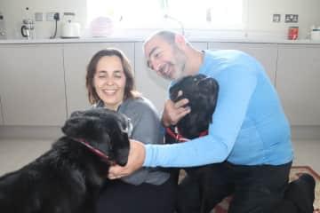 Con Oscar y Kayle en Air, Escocia