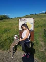 Kula loves hiking