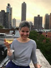 Favourite drink and favourite place: a glass of wine in NYC!