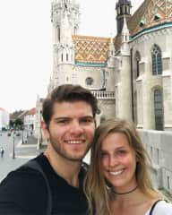 Mitko and I in Budapest - we love to travel together!