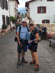 Collin and Pam in St. Jean Pied de Port