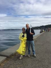 Puget Sound beach cleanup volunteers.