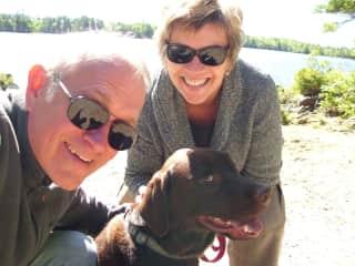 Richard & Dana with friend (Canada housesit)