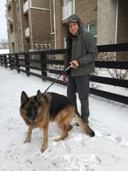 Arturo in a housesit in Lexington, KY with Bella